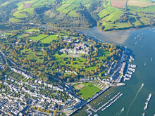 Aerial View Of The River Dart At Dartmouth, Devon