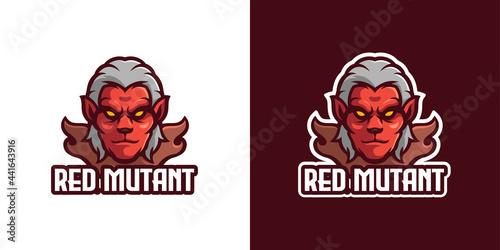 Obraz na płótnie Mutant Monster Mascot Character Logo Template