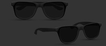 Sunglasses Beach, Fashion Accessory. Polarized Geek Glasses, Hipster Sun Lens Ocular. Isolated On White Background. Vector Illustration.
