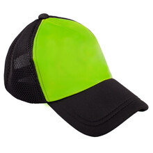 Black And Green Cap Isolated On A White Background