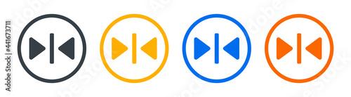 Obraz na plátně Reflection icon symbol vector illustration.