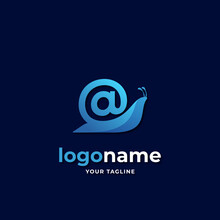 Snail Mail Logo Gradient Style
