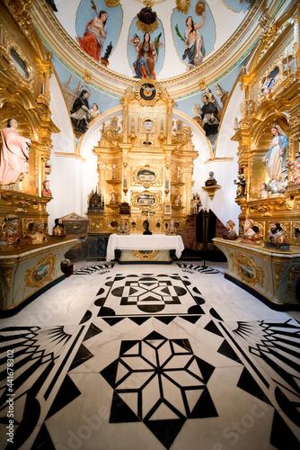 Obraz na plátně interior of the church of st mary