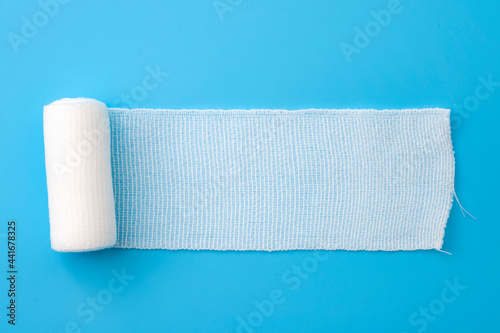 Obraz na plátně First aid, injury protecting wrapping and wound dressing concept clean cotton ga