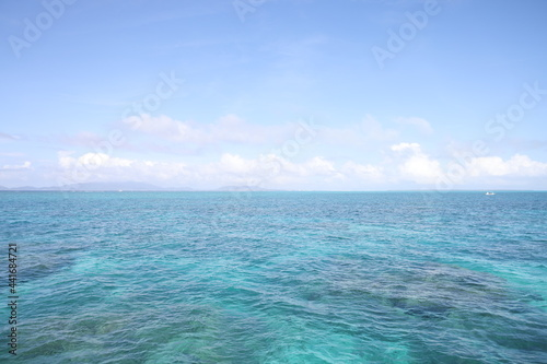 Obraz na plátně 小浜島の綺麗なビーチ