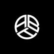 ABA letter logo design on white background. ABA creative initials letter logo concept. ABA letter design.