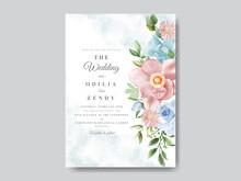 Wedding Card Set Greenery Floral Design