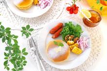 初夏の朝食パンケーキ ワンプレート