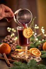 Christmas Punch Served On Glass Mug