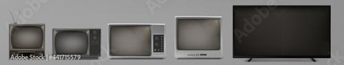 Fotografia tv evolution set
