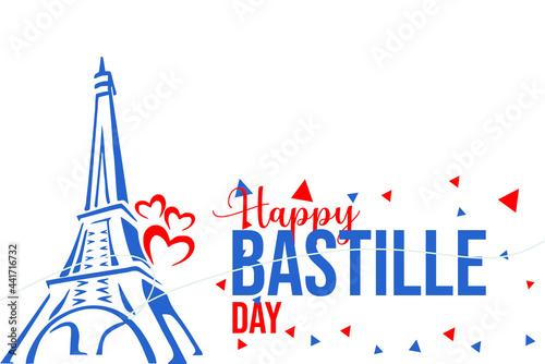 Canvastavla Bastille Day