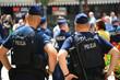 Polska policja na zabezpieczeniu zgromadzenia Wrocław Rynek.