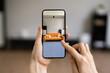 Leinwandbild Motiv AR Technology App
