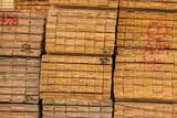 資材置き場に積み上がった建築用木材