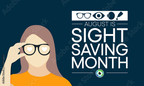 Canvas Print Sight Saving month is observed every year in August, The celebration aims to emphasize the importance of protecting and taking good care of the eyes