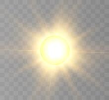 Sun, Sun Eclipse, Partial Sun Eclipse. For Vector Illustrations.