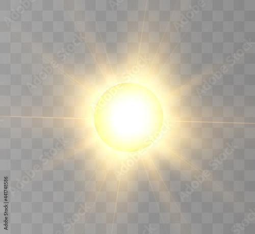 Stampa su Tela Sun, sun eclipse, partial sun eclipse. For vector illustrations.