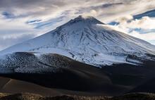 Amanecer En El Volcán Lonquimay De Malalcahuello, Region De La Araucania. Chile
