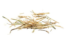 Pile Straw Isolated On White Background And Texture
