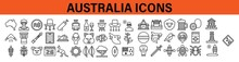 Australia Icons. Australia Icons Set.
