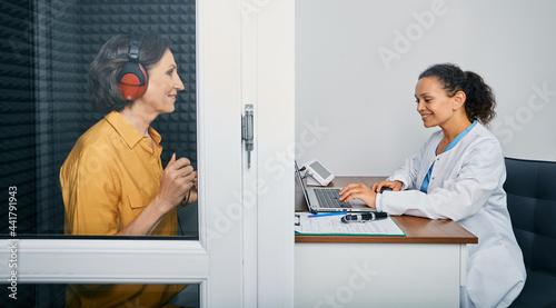 Fotografie, Obraz Audiological exam