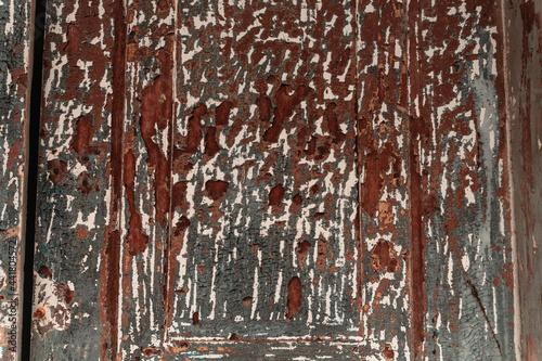 Czerwono brązowe tło, tekstura zniszczona brudna ściana, popękana struktura.