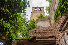 Aleksa Santic, Serbia - June 06, 2021: The Abandoned Fernbach Castle, Also Known As Baba Pusta, Was Built In 1906 By Karol Fernbach For His Own Needs.