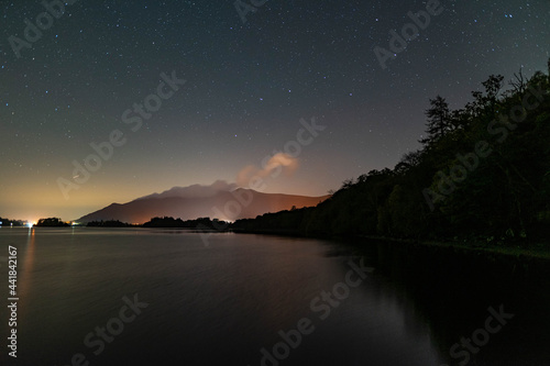 A view of the night sky over Derwent water in the English Lake District with the Poster Mural XXL