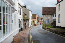View Of Ancient Buildings In The High Street, Alfriston Village, East Sussex, Uk