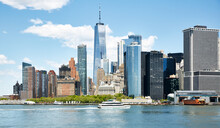 New York, New York City, Financial District Skyline With One World Trade Center
