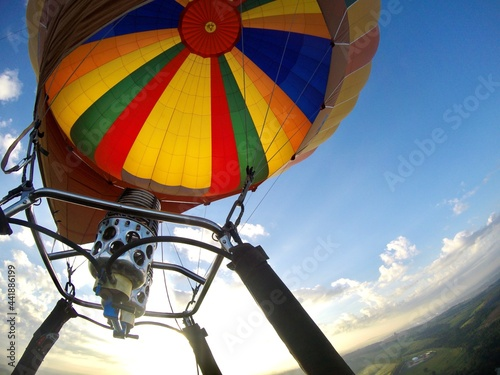Fotografie, Obraz Low Angle View Of Hot Air Balloon Against Sky