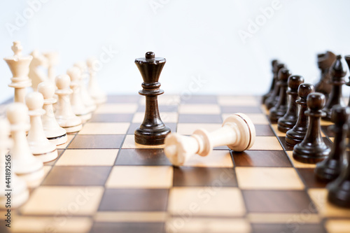 Chessboard And Chess Game Fototapet