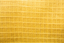 Yellow Woven Fabric Texture
