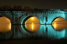Old Roman Stone Bridge Two Thousand Years Old