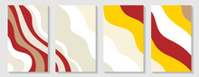 Rectangular Vertical Flyers. Modern Banner For Website Sale, Sale Tag, Sale Promotional Material Vector Illustration. Set Of Abstract Vertical Covers. Dynamic Contrasting Bright Lines. Eps10