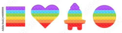Fotografie, Obraz Pop it new popular childrens silicone colorful toy