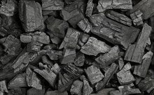 Background Texture Of Many Black Charcoal Pieces