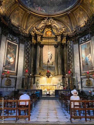 Billede på lærred Chapelle de l'église Saint Sulpice à Paris