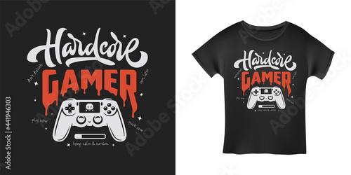 Fototapeta Video games related t-shirt design