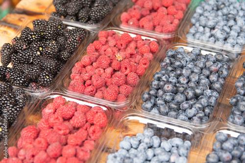 Obraz na plátně fresh berries are on sale