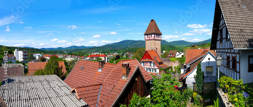 Canvas Gernsbach im Schwarzwald, Storchenturm