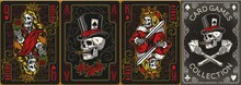 Playing Cards Posters Vintage Colorful Set