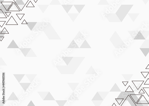 Foto background design with triangle pattern abstract theme