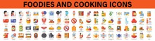 Foodies And Cooking Icons. Cooking Icons. Food Icons.