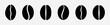 coffee beans icon set. vector illustration