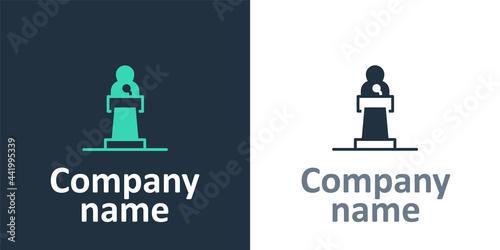 Fotografia, Obraz Logotype Speaker icon isolated on white background
