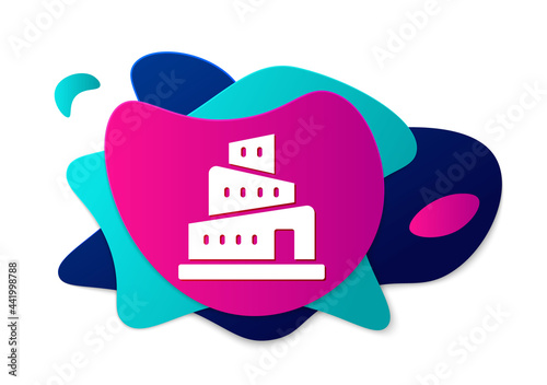Photo Color Babel tower bible story icon isolated on white background