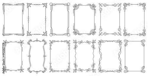 Obraz na plátně Decorative frames
