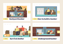 Backyard Underground Bunker For Family Protection - Template Set Of Landing Pages