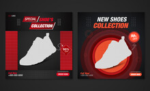 Red Shoes Social Media Post Template